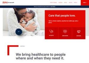 firststophealthweb company website design